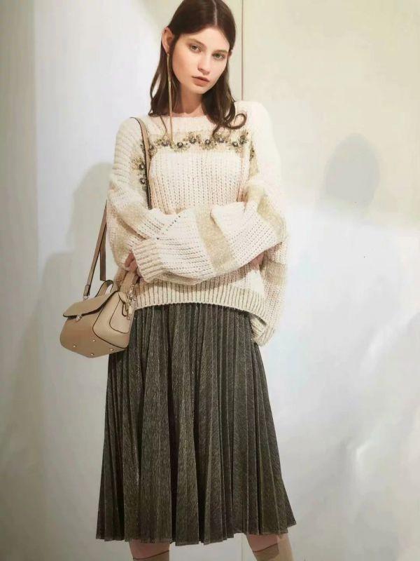 朗文斯汀19春一线大牌女装批发位或低价走份女装一手货源韩序淑女连衣裙