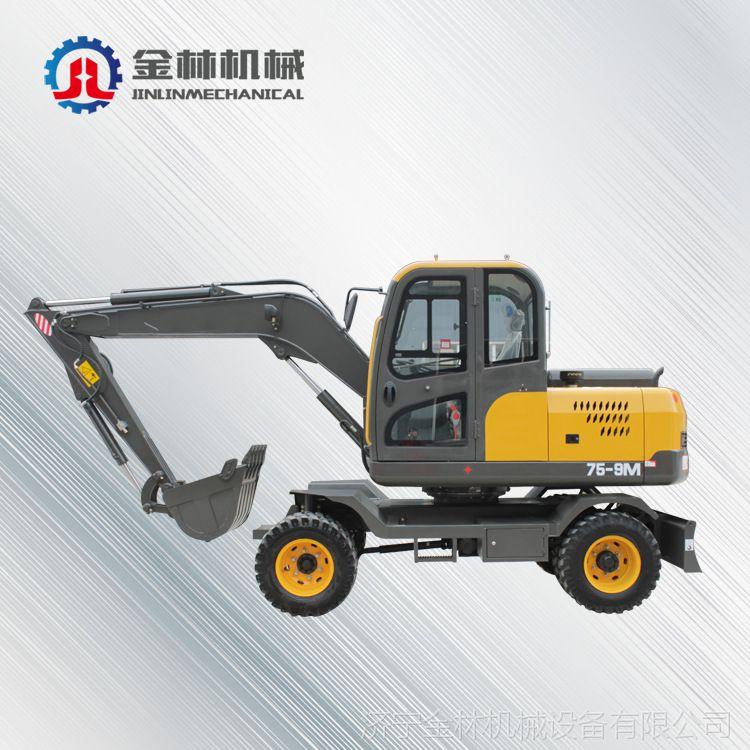 济宁供应85轮式挖掘机 生产中小型轮式挖掘机