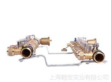 森威尔SASWELL黄铜地暖分集水器地热可加装电热执行器十路套装