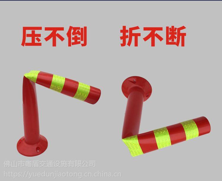 广东佛山厂家直销  粤盾交通PE塑料弹力柱警示柱柔性禁止柱橡胶车位塑料桩(图7)