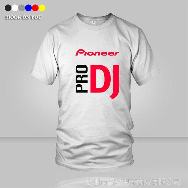 先锋DJ Pioneer PRO 男士嘻哈新潮流T恤衫hiphop上衣摇滚欧美夏季