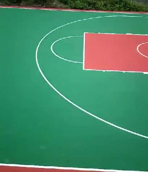 篮球场施工_硅PU篮球场_地面施工画线完工_深圳篮球场施工