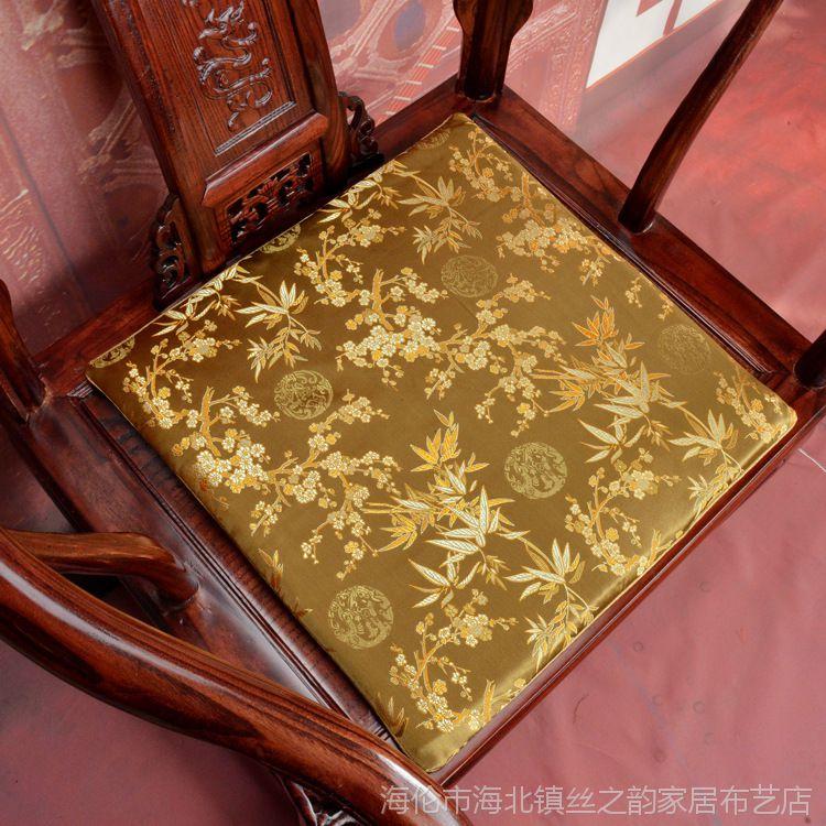 一件代发红木椅子坐垫红木沙发垫中式坐垫古典实木餐椅圈椅垫