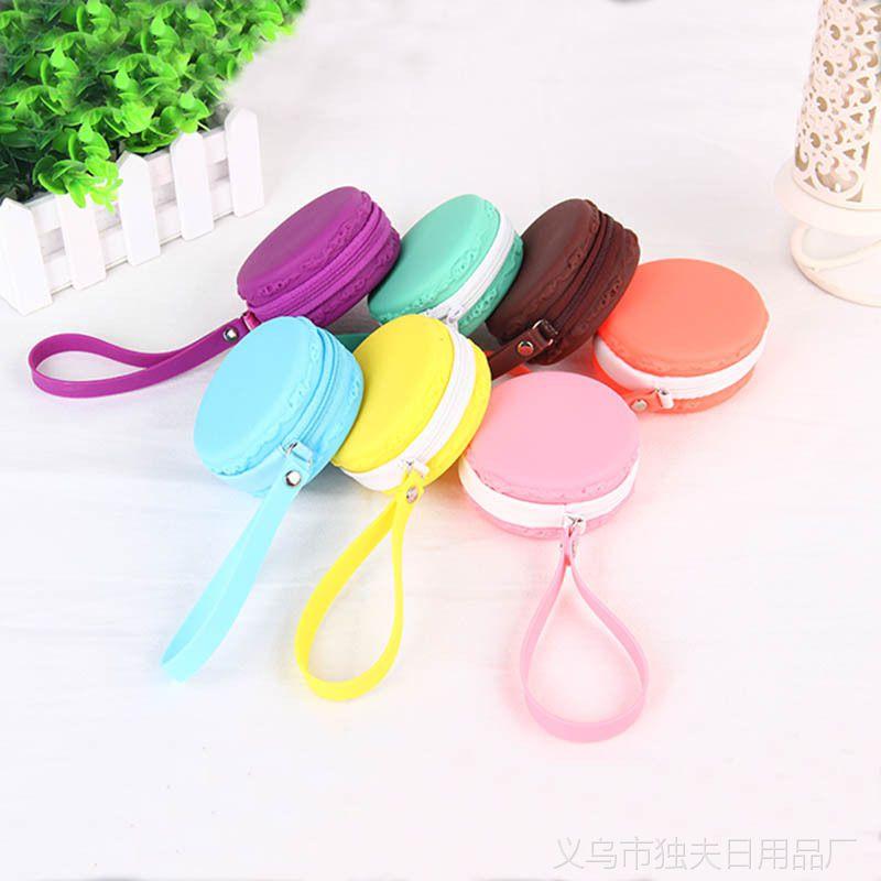 马卡龙小钱包 可爱零钱包韩版女 彩色迷你硬币包 糖果色耳机包