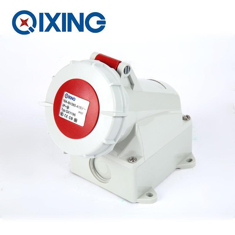 启星科技QX1196 16A 4芯IP67明装插座有3C认证