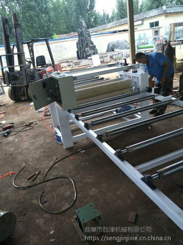木工板材自动涂胶贴面机 多层板全自贴合机 密度板贴面机