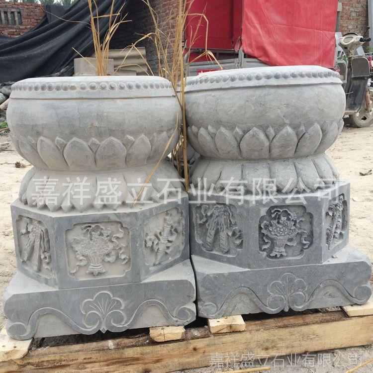 专业生产各种青石石鼓 仿古雕花柱墩石 石雕柱础