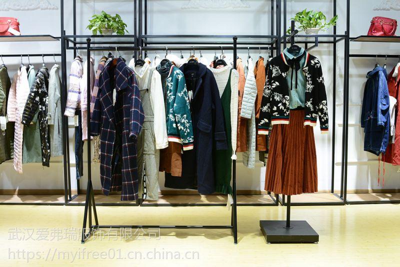 品牌女装走份直销德玛纳18年冬装新款羽绒服大衣