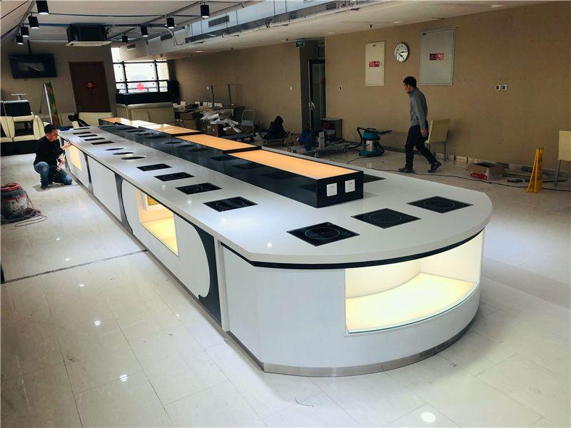 酒店布菲台定制 酒店自助餐台设计制作移动酒店不锈钢布菲台