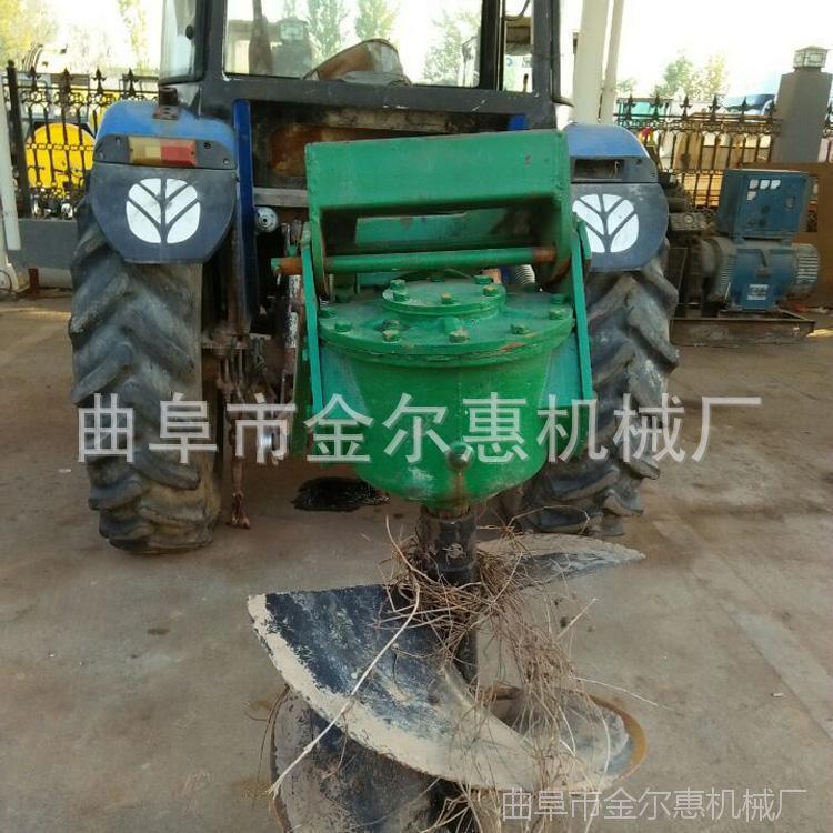 植树栽树挖坑机 四轮拖拉机挖孔机钻孔机 地钻机多少钱