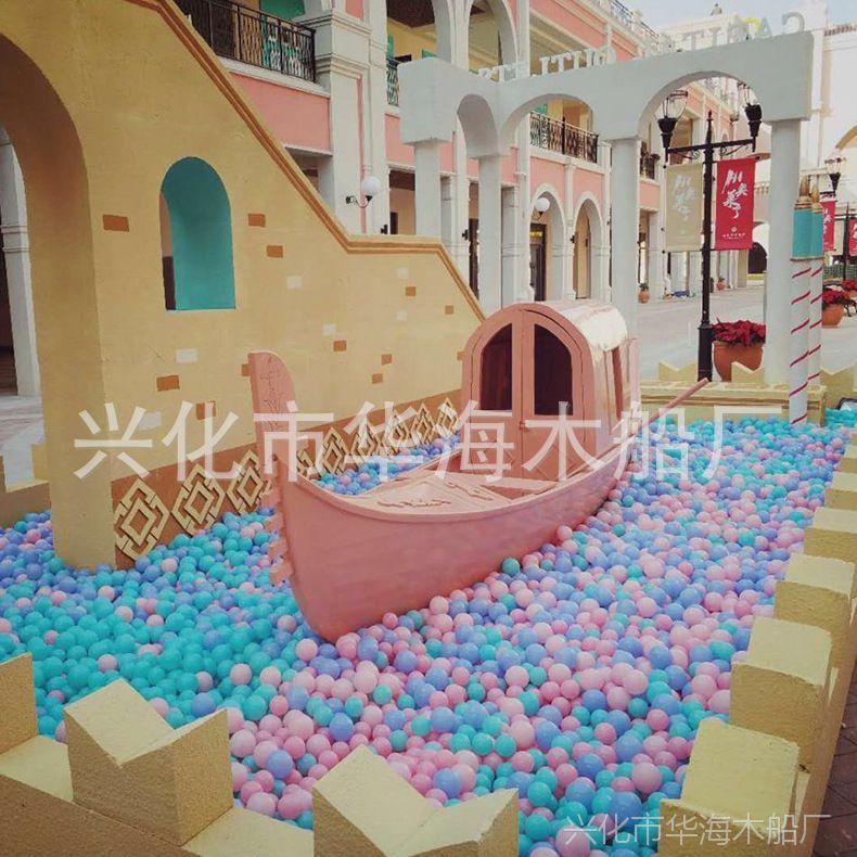 华海欧式木船 贡多拉木船 景观装饰船 婚纱摄影道具装饰船