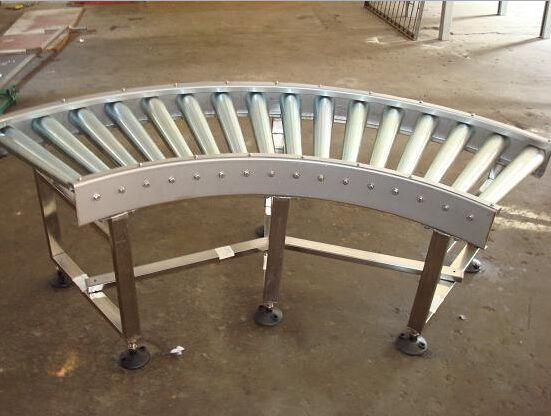 保定轮胎辊筒转弯输送机 碳钢喷塑纸箱动力辊筒输送机