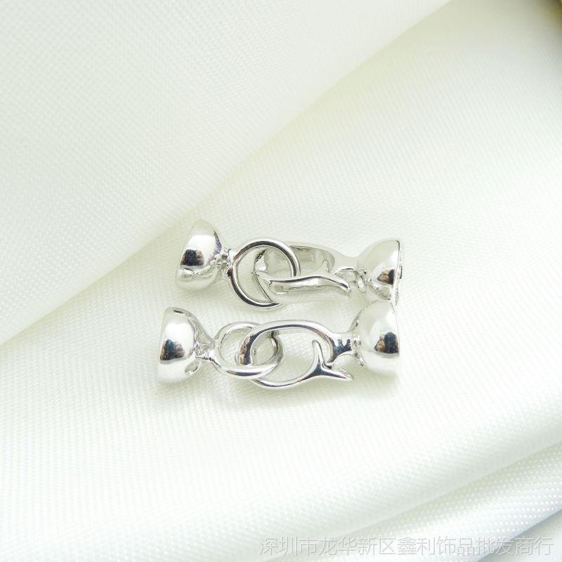 穿珍珠项链手链 扣子接头 DIY饰品配件材料件
