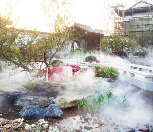 西安餐厅公园景观造雾-工地车间喷雾除尘-陕西锦胜雾森