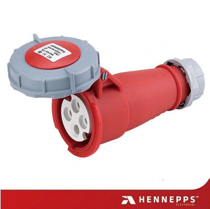 汉奈 工业连接器 63A转换器HN1117 高铁航空插头 防水防尘室外