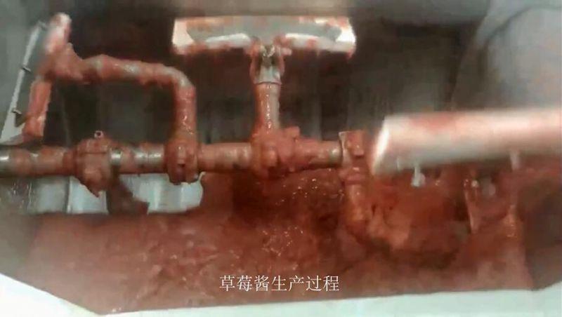 草莓酱制酱机_水果酱生产设备_真空浓缩果酱搅拌机-隆泽