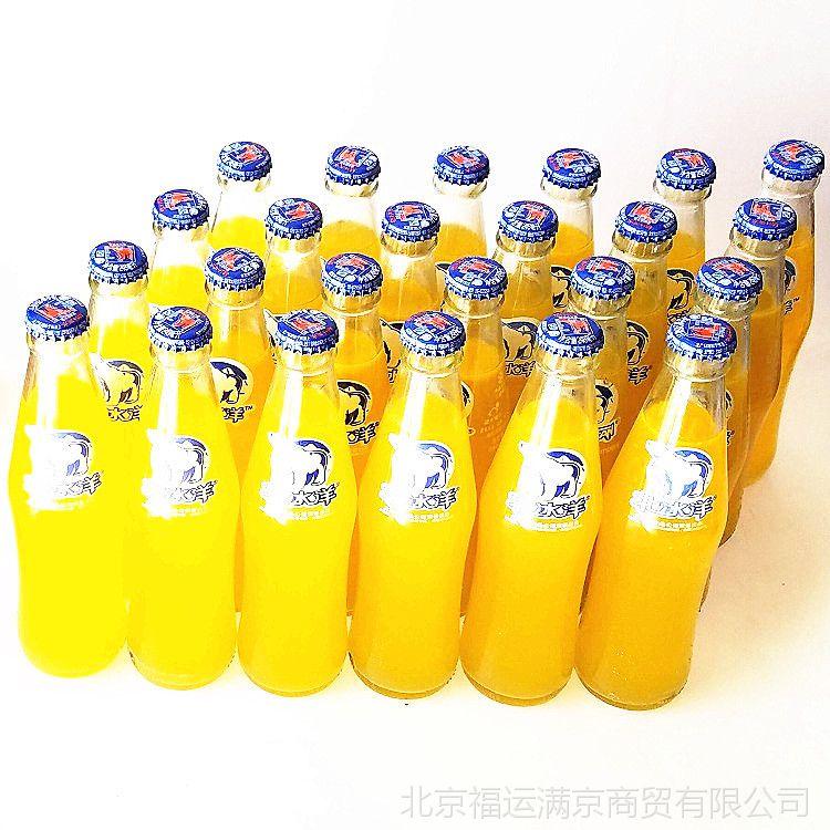批发北冰洋汽水 桔汁口味 老北京玻璃瓶北冰洋汽水24瓶装 包物流