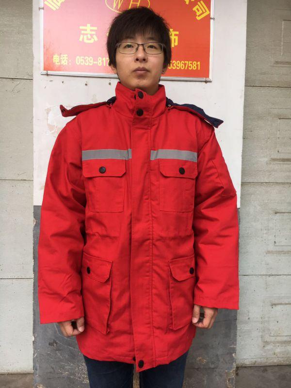 大红色劳保服棉衣棉服