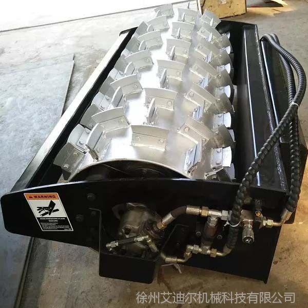 滑移装载机配破冰器价格 市政环卫车配冬季路面除冰雪设备破冰机
