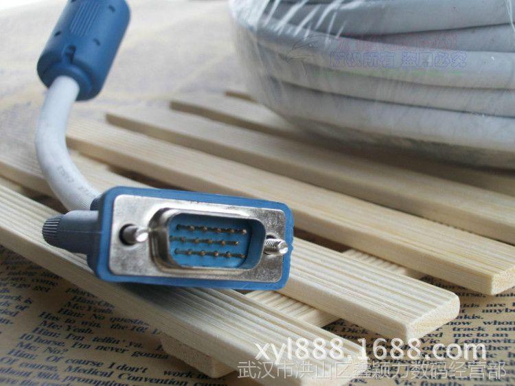 30米VGA线高清电脑显示器电视延长数据投影仪连接线工程线双磁环
