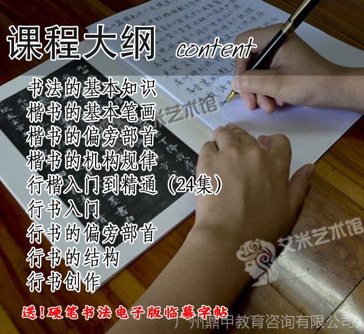 硬笔书法成人教程教程字帖楷书入门行书行楷换屏4s后视频图片