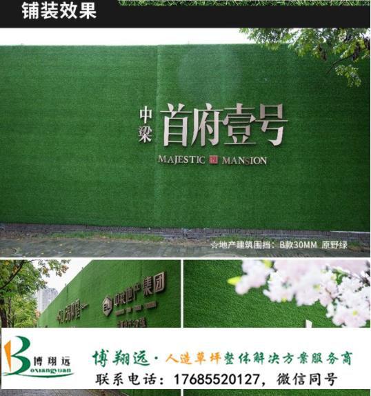 建筑工地围挡塑料草坪(案例:阿图什、桐城)