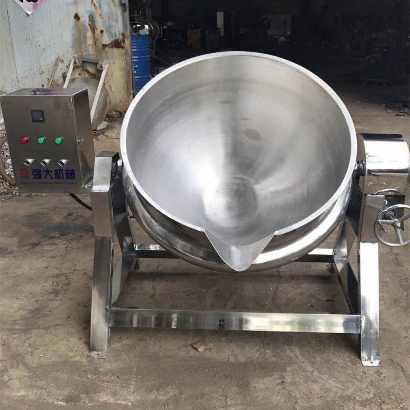 春泽机械可倾斜夹层锅出料视频