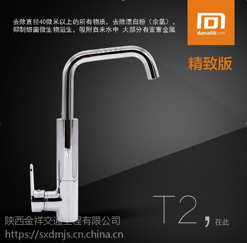 大迈净化水龙头DM-T2 厨房菜盆冷热净水 大流量矿物质