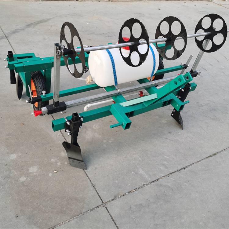 宇悦牌花生喷药覆膜机盖膜机厂家直销/手扶式农用多用途覆膜机