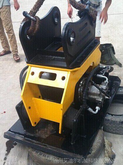 挖掘机配平板夯压实机械 路面夯实器配斗山挖掘机