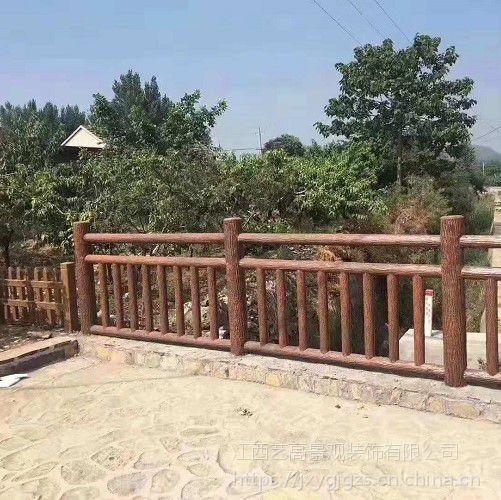 广西仿木栏杆安装视频_梧州仿竹护栏_贺州仿松树皮水泥栏杆