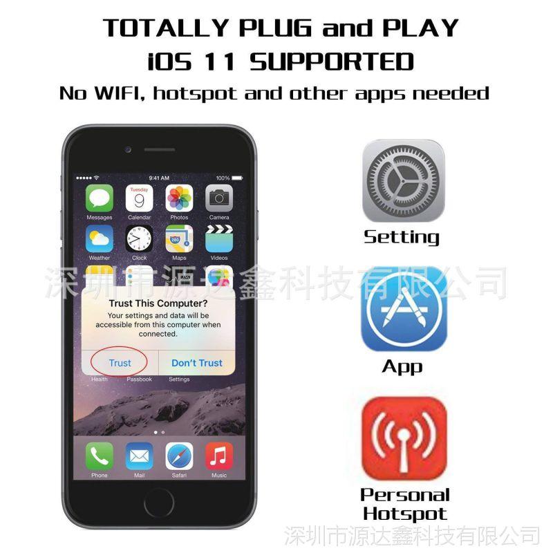 手机HDTV线iphoneX876转hdmi电视车载苹果安卓网页禁止手机下载图片
