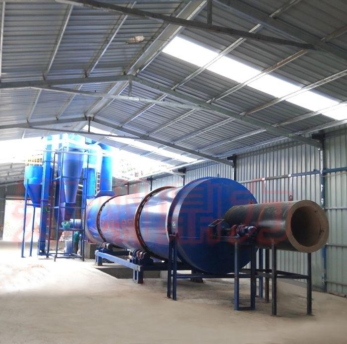 豆渣烘干机 豆腐渣烘干设备 广东发酵豆粕烘干设备试机现场