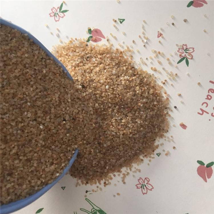 玄光石英砂厂家生产 天然环保海沙 鱼缸造景用圆粒砂 规格全
