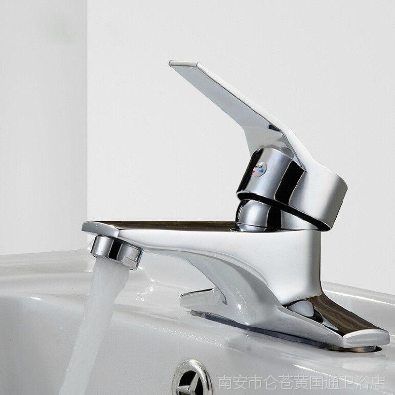 厂家直批特价面盆两联冷热脸盆水龙头铜双孔洗手盆龙头一件批发