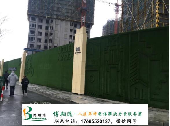 塑胶草皮围墙(案例:桂林、永川)