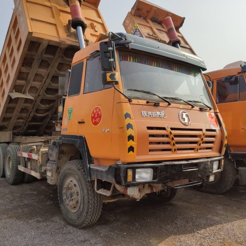 山西忻州出售大量陕汽奥龙后八轮自卸车,340马力,奔驰桥,海沃顶,5.6大箱