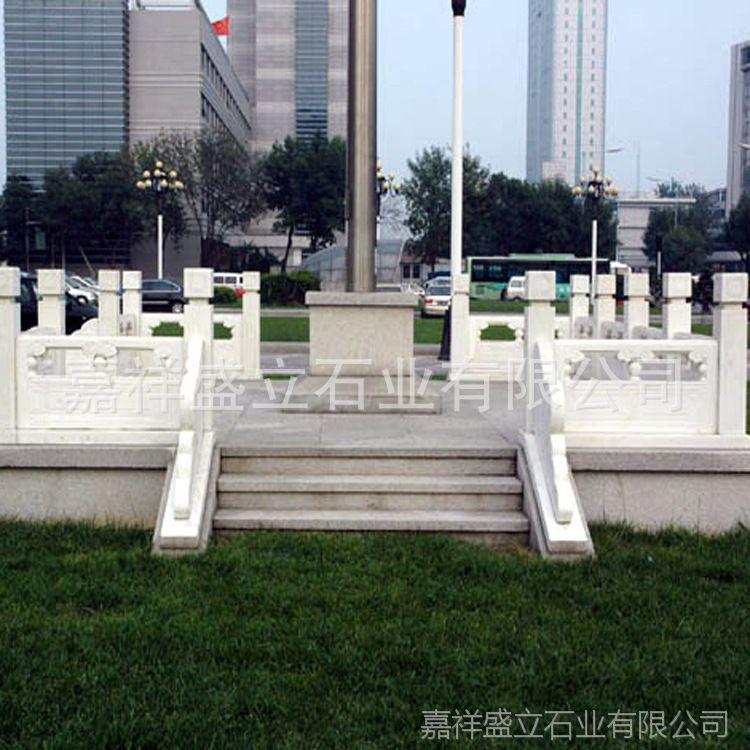 汉白玉石栏杆生产厂家 精雕优质石栏杆 别墅石雕栏杆