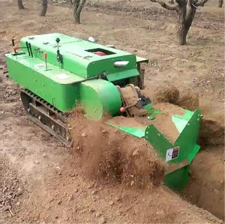 自动填土履带式施肥机 果园大棚松土旋耕机浩发