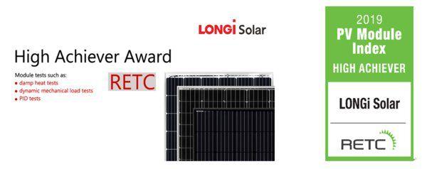隆基凭借出色的组件性能荣获RETC突出成就奖