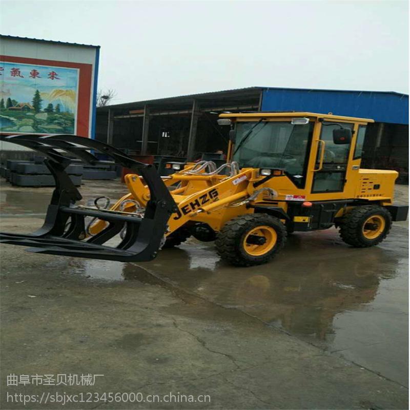 ZL932草叉装载机 农用抓草抓木机小型轮胎式叉草叉木装载机