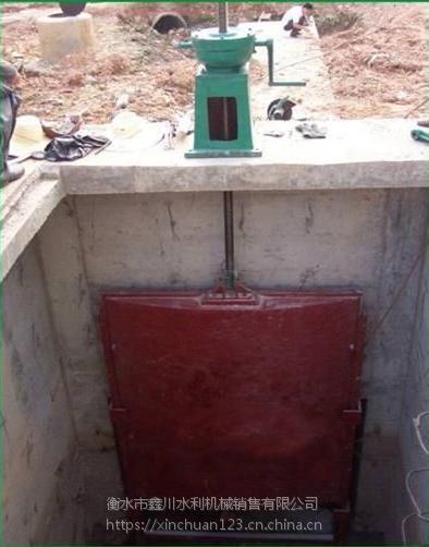 无锡渠道泄洪2.0*2.5手电两用铸铁闸门价格