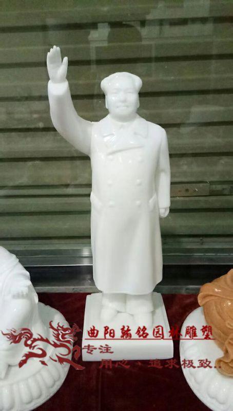 曲阳石雕翰铭石雕毛泽东汉白玉大理石毛主席像人物雕塑胸像摆件工艺品人物摆件