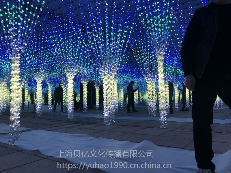 地产营销策划光影展项目AR流光瀑布出租光影科技展览