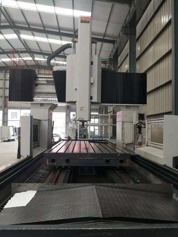 二手4米数控龙门铣 汉川2X4米龙门加工中心 XK2420B