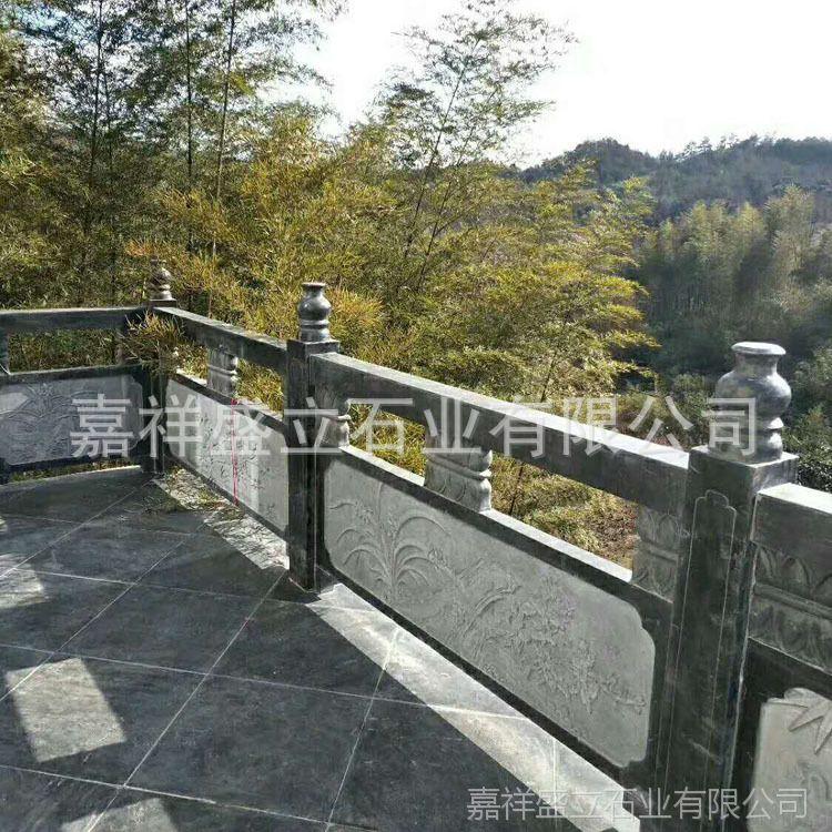 仿古大桥石栏杆定制 河道阳台浮雕护栏 石拱桥栏杆来图定做