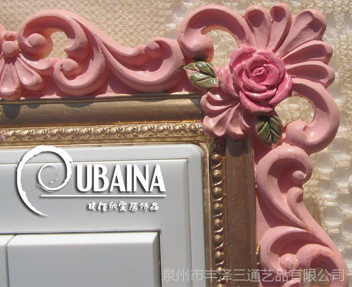 厂家批发树脂开关贴卡通装饰墙贴创意插座贴礼品工艺品家居饰品