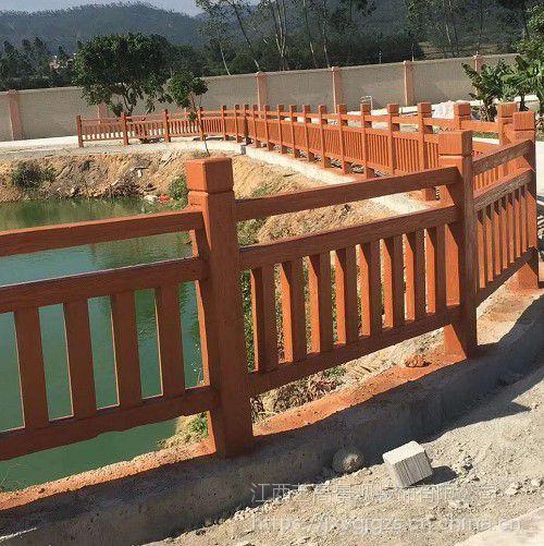 江西景区仿木栏杆_江西河堤混凝土仿木护栏_江西池塘水泥仿木围栏