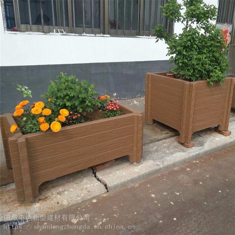 大安景区园林绿化带仿木花箱 公园休闲用仿木座椅