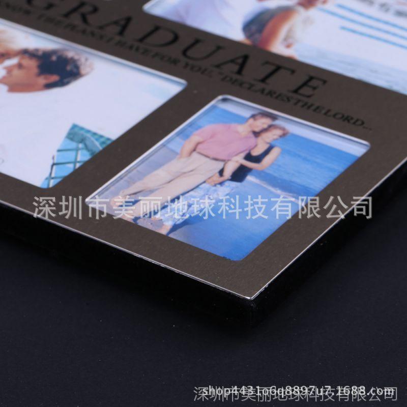 欧式家用5寸相框长方形办公桌面摆台相架学生可爱照片相框九宫格